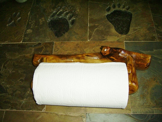 Aspen Rustic Log Paper Towel Holder Wall Mount By Rusticlogs
