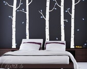 Birch Forest Wall Decal 102 in.
