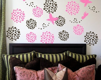 Butterflies and Dots Wall Decals