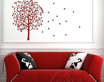Fall Tree Vinyl Wall Decal
