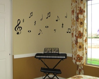 Music Notes Wall Decal Large