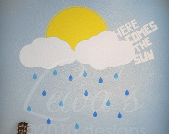Here Comes the Sun Wall Decal Extra Large