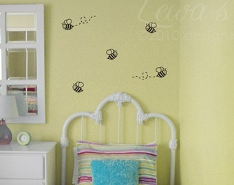 Bumble Bee Wall Decals (Set of 6)