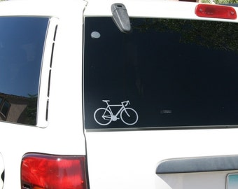 Street Bike Etched Glass Material Car or Laptop Decal