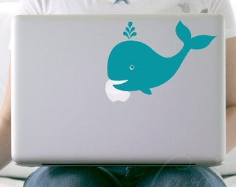 Whale Laptop Macbook Notebook Decal