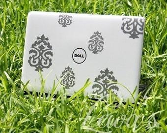 Laptop Damask Decal Set