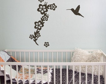 Hummingbird Wall Decal Set