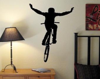 BMX Bike Jump Wall Decal, BMX Room, BMX Wall Decal,