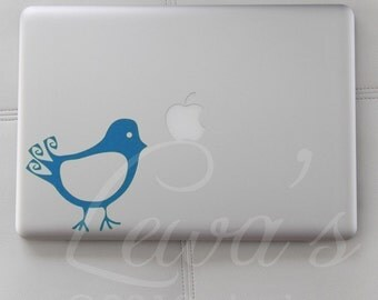 Baby Swirly Bird Laptop / Notebook / Macbook  Computer Decal