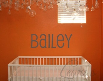 Custom Name Wall Decal- Medium Size 35 inches