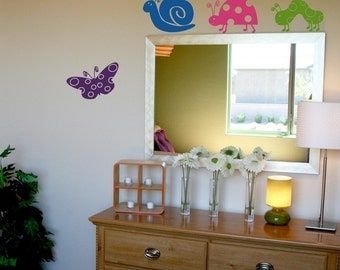 Cute Critters Wall Decal Set of 4