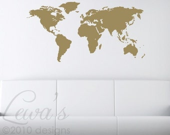 World Map Large Vinyl Wall Decal