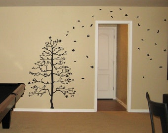 Tree in the Wind Wall Decal Large