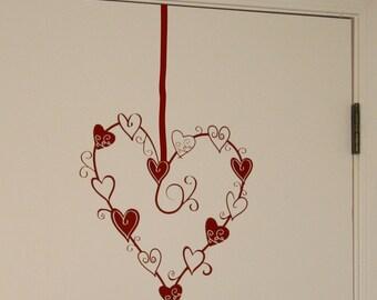 Always In My Heart Vinyl Wall Decal Medium, Heart Wall Decal, Valentine's Day Heart, Wedding Heart Decal,Wedding Wall Sticker, Love Decal