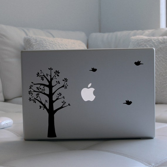 Tree and Birds Laptop \/ Notebook Computer Decal
