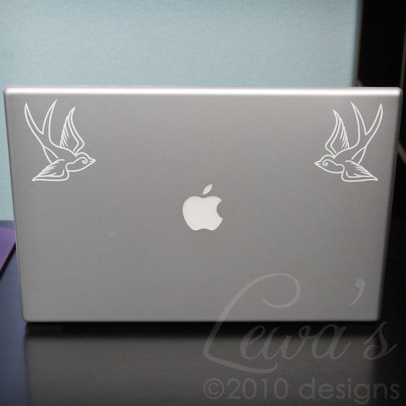 Swallows Small Laptop / Macbook / Notebook Computer Decals