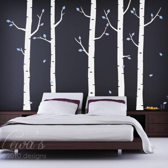 Birch Forest Wall Decal 102 In