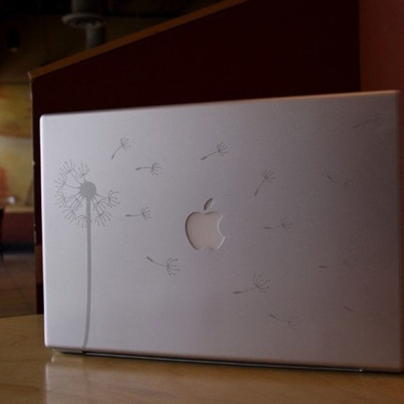 Etched Glass Dandelion Blowing in the Wind Car or Laptop Decal