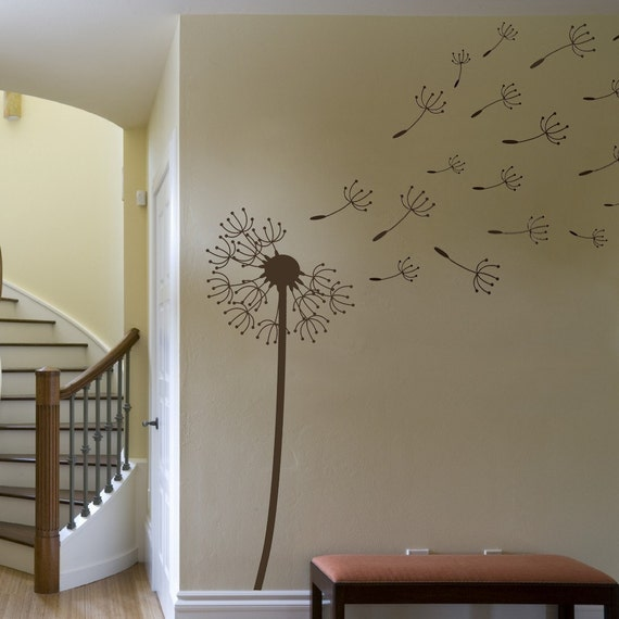 Dandelion in Wind Wall Decal Extra Large