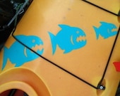 Piranha, MEDIUM,  Kayak Decal