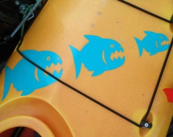 Piranha, MEDIUM,  Kayak Decal