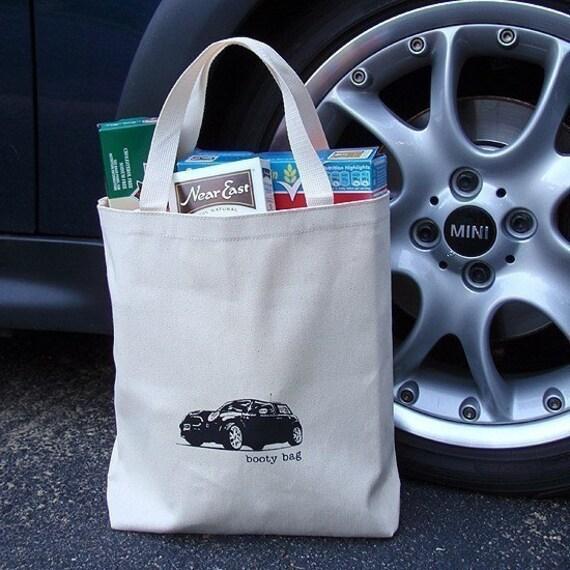 MINI Cooper booty bag, medium tote bag, Last one in this bag style!