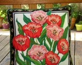 PEONIES NEEDLEPOINT PILLOW