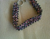 Crazy for pinks and purples Beaded St. Petersburg Bracelet