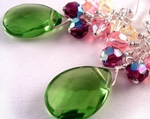Buttercup Fairy Gemstone and Crystal Earrings by Happy Shack Designs