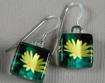 Simply Sweet Earrings - Daisy - Photo Earrings - Yellow Flower Earrings - Nature Photography