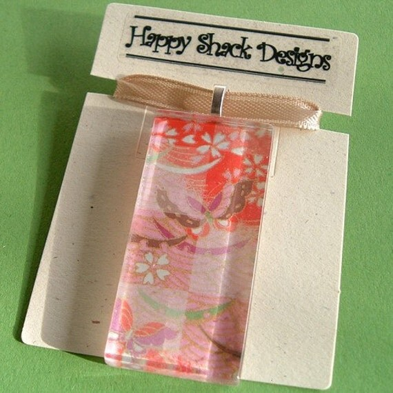 Japanese Paper Glass Tile No. 1 by Happy Shack Designs