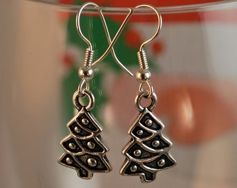 Christmas Tree Charm Earrings - Tierracast