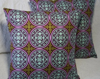 "16x16 Pillow Cover 16"" Modern Geometric Lilac Ironwork Scrollwork Throw Pillow Cover Joel Dewberry Aviary 2 (#88*)"