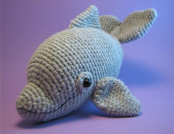 Crochet Dress Pattern For American Girl Doll : Dolphin Amigurumi PDF CROCHET PATTERN