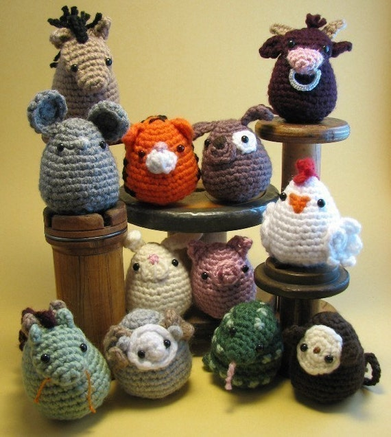 Chinese Zodiac Amigurumi PDF CROCHET PATTERN by edafedd on Etsy