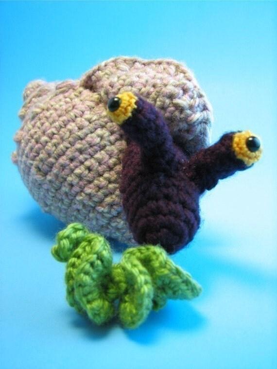 Amigurumi Free Pattern Snail : Conch Snail Amigurumi PDF CROCHET PATTERN