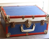 Vintage Red White and Blue Trunk