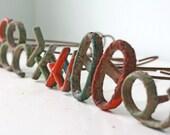 Vintage Branding Iron, last one: ORANGE ZERO