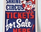 Vintage Shrine Circus Poster