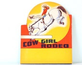 Vintage Cowgirl Rodeo Stock Poster