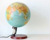 Vintage Lighted Globe, made in Denmark