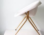RESERVED Retro Mod White Chair