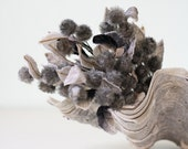 Vintage Millinery Flowers - Silver Gray