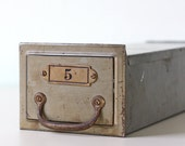 Vintage File Drawer / Safe Deposit Box - Number 5