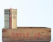 Vintage Wooden Crate - Uncle Jo
