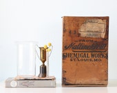 Vintage Wooden Crate - Mallinckrodt Chemical Works of St. Louis, MO.