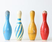 Vintage Bowling Pins - Set of 4