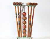 Vintage Croquet Set - by South Bend Toy