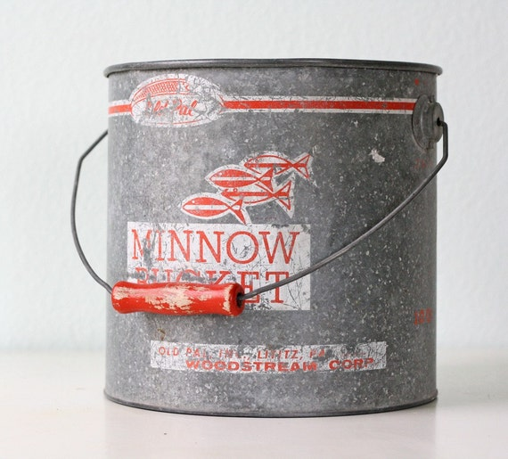Vintage Old Pal Minnow Bucket by bellalulu on Etsy