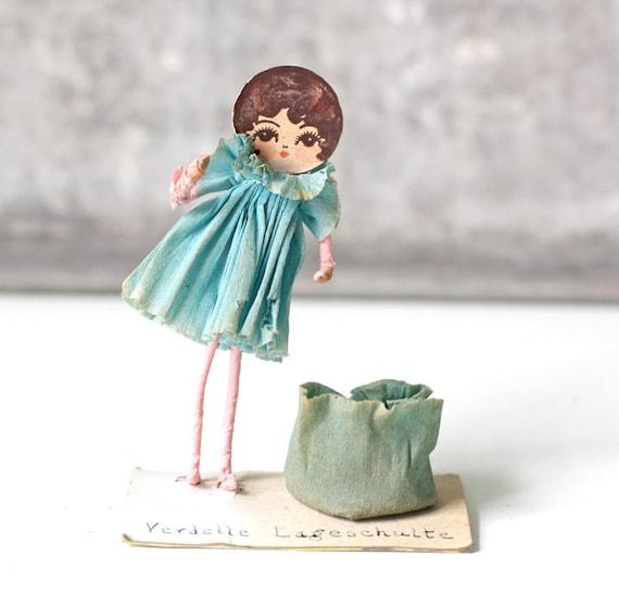 Vintage Crepe Paper Girl